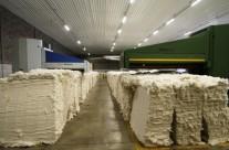 Linhas de abertura de fardos de algodão