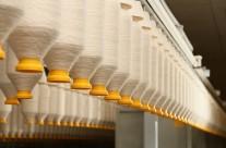 Detalhes do sistema de transporte de maçarocas
